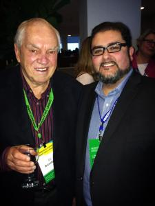 Ed Broadbent and Rod Loyola at the Progress Summit held in Ottawa, ON from March 28 to 30, 2014